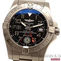 Breitling Avenger II GMT Steel 42mm Black Arabic numerals