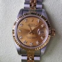 Rolex perfect 69173 Date Just Gold no stretch orig. Diamond Dial