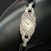 Decorative platinum diamond Art Deco ladies watch Wrist watch