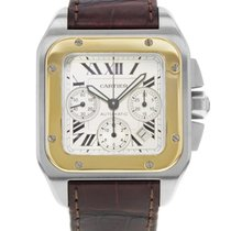 Cartier Santos 100 W20091X7 Steel & 18K Yellow Gold Automatic...