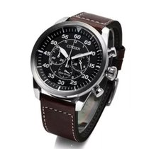 Citizen Eco-Drive Chronograph 100m Sports Leather Watch...