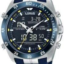 Lorus Steel 46mm Quartz RW617AX9 new