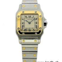 Cartier Santos (submodel) Gold/Stahl Weiß Schweiz, Geneve