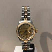 Rolex Lady-Datejust Zlato/Ocel 26mm Šampaňská barva