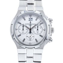 Vacheron Constantin Overseas Chronograph pre-owned 40mm Silver Chronograph Date Steel