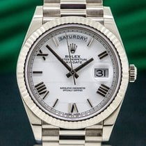 Rolex Day-Date 40 White gold 40mm White Roman numerals United States of America, Massachusetts, Boston