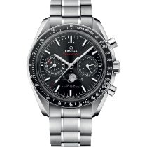 Omega Speedmaster Professional Moonwatch Moonphase Steel Black No numerals United States of America, New York, New York