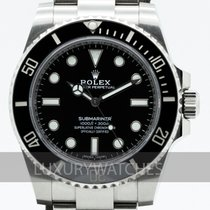 Rolex Steel Automatic Black 40mm pre-owned Submariner (No Date)