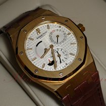 Audemars Piguet Or jaune Remontage automatique Argent 39mm nouveau Royal Oak Dual Time
