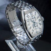 Franck Muller Master Banker Steel 47mm Silver Arabic numerals