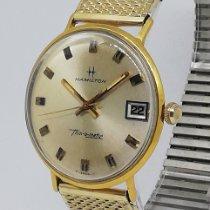 Hamilton Thin-O-Matic Acero y oro 33mm Champán