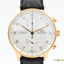 IWC Portuguese Chronograph Rose Gold White Full Set