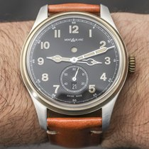 Montblanc 1858 Automatic Dual Time Black Dial Brown Leather