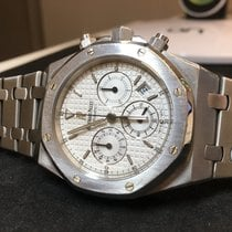 Audemars Piguet Royal Oak Chronograph - 25860ST - White Dial -...