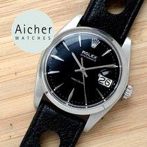Rolex Black Vintage Men´s Manual Date Oyster Precision