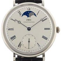 IWC Platinum Manual winding Silver Roman numerals 46mm pre-owned Portofino Hand-Wound