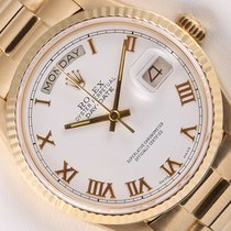 Rolex Automatic White 36mm pre-owned Day-Date 36