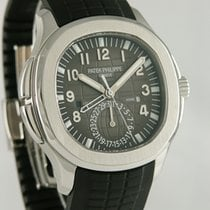 Patek Philippe Aquanaut pre-owned 42mm Black Date GMT Rubber