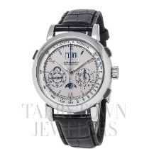 A. Lange & Söhne Platinum Manual winding Silver Roman numerals 41mm pre-owned Datograph