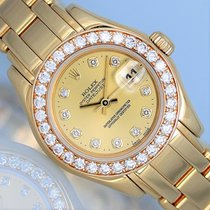 Rolex Lady-Datejust Pearlmaster Or jaune 29mm Champagne