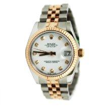 Rolex Lady-Datejust Or/Acier 31mm Blanc