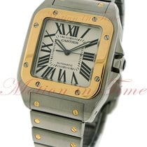Cartier Santos 100 Gold/Steel 38mm Silver Roman numerals United States of America, New York, New York