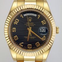 Rolex Day-Date II Yellow gold 41mm Black United States of America, New York, New York