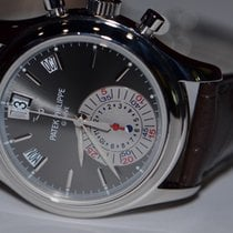 Patek Philippe Annual Calendar Chronograph Platino 40mm Gris Sin cifras