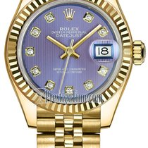 Rolex Lady-Datejust Yellow gold 28mm Purple United States of America, New York, Airmont