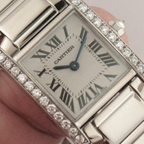 Cartier 18K White Gold Tank Francaise Ref. WE1002S3 Factory...