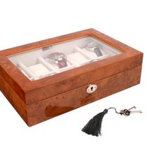AXIS Luxury Burl 10 Watch Storage and Display Box