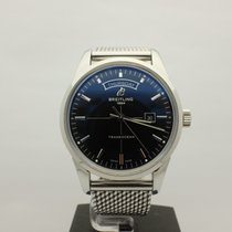 Breitling Transocean Day & Date Automatic Black Dial Stainless...