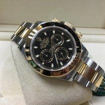 Rolex 116503  Daytona Yellow Gold & Steel  (Black Dial)