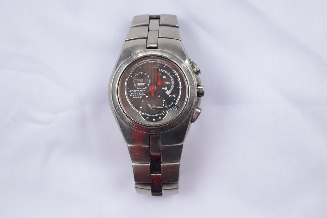 Seiko arctura 7l22 0ab0 a4 kinetic titanium chronograaf sold on chrono24 for Jaeger lecoultre kinetic