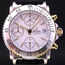 Bulova Chronograph 40mm Automatik 2001 gebraucht Weiß