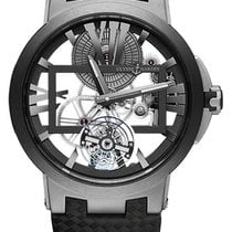 Ulysse Nardin Executive Skeleton Tourbillon new Manual winding Watch with original box and original papers 1713-139