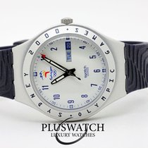 Swatch Aluminium Quarz Silber 36mm gebraucht