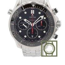 Omega Seamaster Diver 300m black dial steel chronograph
