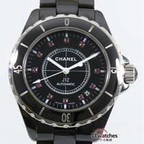 Chanel J12 Black Ceramic Ruby Dial H1635 Box Papers