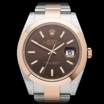 Rolex Datejust 41 Chocolate Stainless Steel & 18k Rose...
