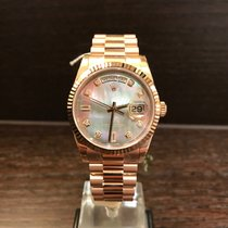 Rolex Day-Date Rosegold Mother of Pearl MOP Diamond Dial 118235