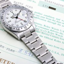 Rolex SS 40mm Explorer ll White Dial - 16570 Original Box &...
