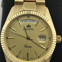 Helvetia new Quartz Screw-Down Crown 35mm Yellow gold