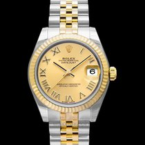 Rolex Lady-Datejust Or jaune Champagne