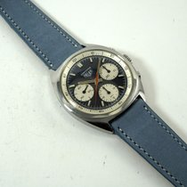 Heuer pre-owned Manual winding 38mm Blue Plastic