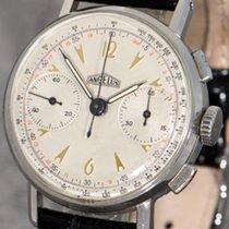 Angelus Vintage Chronograph, Angelus Cal. 215, steel case