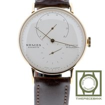 NOMOS Lambda Red gold 39mm Silver