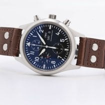 IWC Pilot Chronograph Steel 42mm Black No numerals United Kingdom, Oxford
