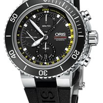 Oris Aquis Depth Gauge Steel 48mm Black No numerals