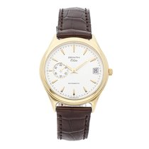 Zenith Yellow gold Automatic Silver No numerals 36mm pre-owned Elite